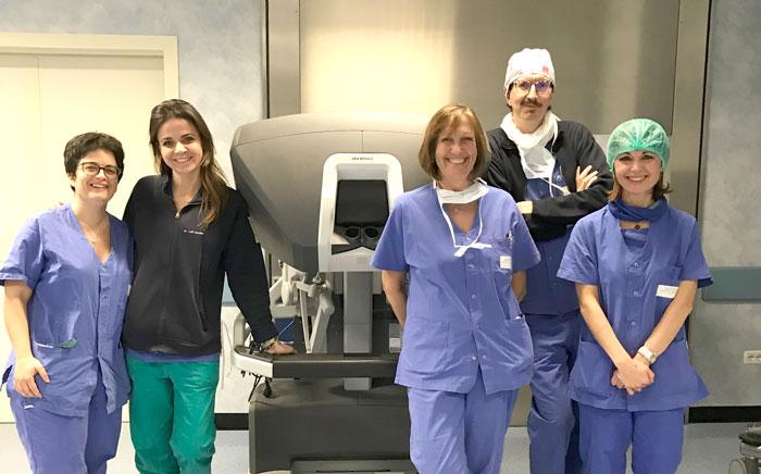 clinica urologica elisabetta costantini equipe robot